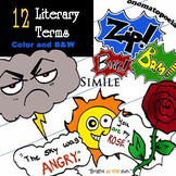 Literary Terms 24-Piece Clip-Art! BW & Color