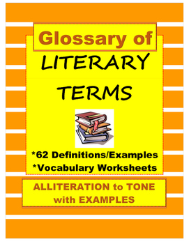 Literary Terms Glossary of 62 Definitions, Examples, Quizzes 6-10