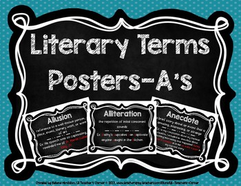 Literary Terms A's