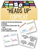 """Literary Terms Activity Game: """"Heads Up"""" CopyCat"""