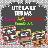 Literary Terms Anchor Charts Bundle, All Year, Spring, Fall, Winter Design