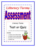 Literary Terms Assessment- Great for Figurative Language