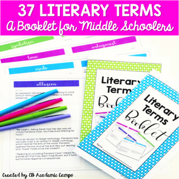 Literary Terms Booklet for Middle School {EDITABLE}