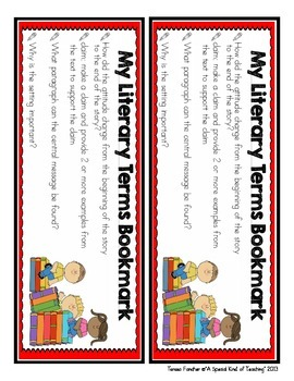 Literary Terms Bookmark