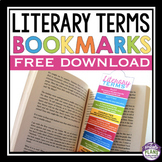 FREE LITERARY TERMS BOOKMARKS