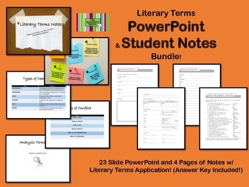 Literary Terms Bundle- PowerPoint and Student Notes