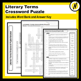 Literary Terms Crossword Puzzle