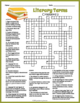 Literary Terms Crossword Puzzles