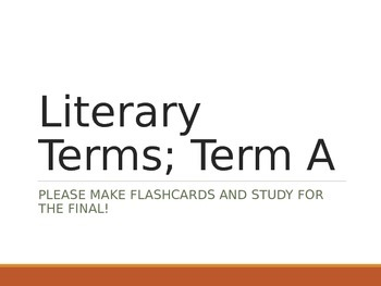 Literary Terms & Definitions