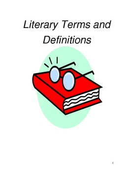 Literary Terms, Definitions, and Matching Tests