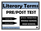 Literary Terms Pre/Post Test