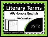 Literary Terms List 2 of 4 (AP & Honors English)