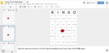 Literary Terms Digital Bingo (Google Drive Edition)