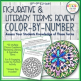 Literary Terms, Figurative Terms Review, End of Year, Colo
