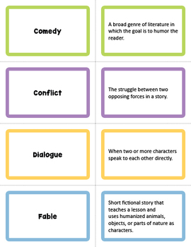 Literary Terms Flashcards