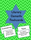 Literary Terms Flashcards for Middle School