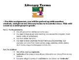 Literary Terms: Foldable Lapbook Project & Test