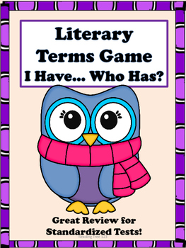 Literary Terms Review Game and Study Guide