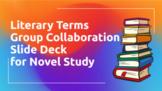 Literary Terms Group Collaboration Slide Deck for Novels i