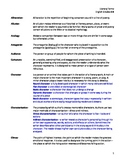 Literary Terms Handout