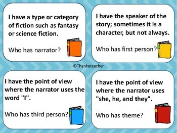 Literary Terms : I Have Who Has? Game