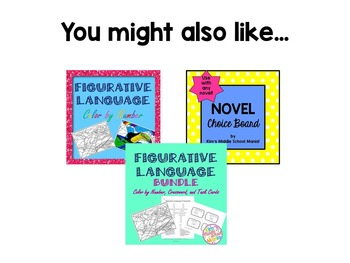 Literary Terms I Have...Who Has? Game Common Core Aligned