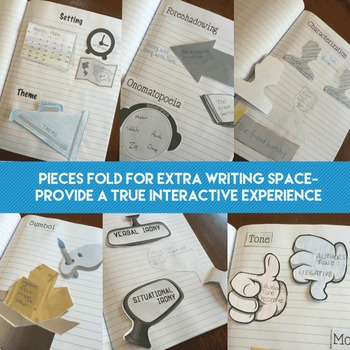 Literary Terms Interactive Notebook Pieces