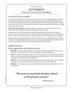 Literary Terms: Inversion