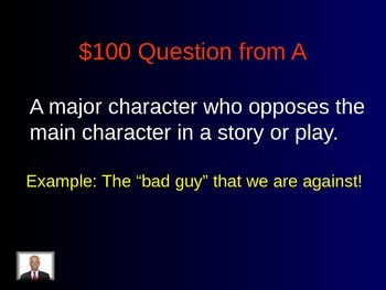 Literary Terms Jeopardy Game!