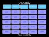 Literary Terms Jeopardy Review