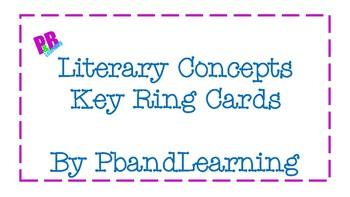 Literary Terms Key Ring Cards