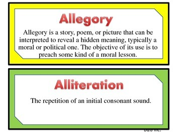Literary Terms / Literary Devices / Rhetorical Devices Posters