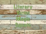 Literary Terms Magic Square