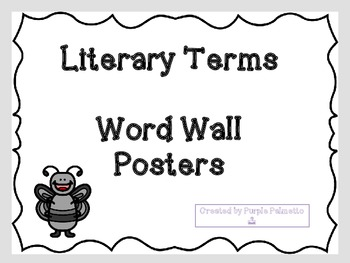 Literary Terms Mini Posters (Gray/Black)