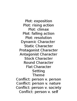 Literary Terms Mini Project
