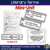 Literary Terms Mini-Unit:  Pixanotes, Dominoes, Word Wall,
