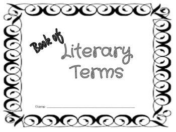 Literary Terms Notebook Grades 4-12
