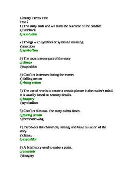 Literary Terms Part 2 Quiz