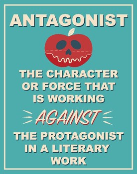 Literary Terms Posters (Set of 16) BLUE