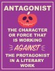 Literary Terms Posters (Set of 16) PURPLE