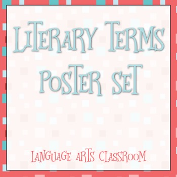 Literary Terms Posters: Whimsical Design