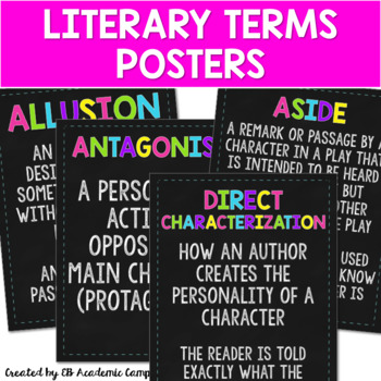 Literary Terms Posters for Middle School