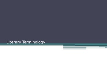 Literary Terms PowerPoint (Full Version)