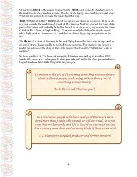 Literary Terms- Prose