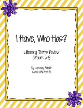 Literary Terms Review: I Have, Who Has?