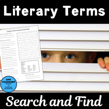 Literary Terms Search and Find
