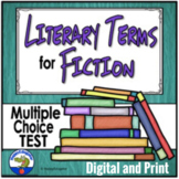 Literary Terms TEST - Story Elements of Fiction w/ Easel A