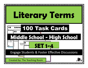 Literary Terms Task Cards {BUNDLE}