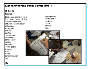 Literary Terms Task Cards {Set 1 of 4}