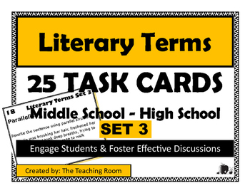 Literary Terms Task Cards {Set 3 of 4}